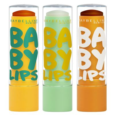 Imagem 1 do produto Kit Hidratante Labial Maybelline Baby Lips Super Frutas - Abacaxi-Hortelã + Limão + Cacau