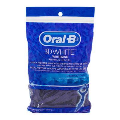 Imagem 3 do produto Kit Oral-B 3D White 2 Ecovas Dental Luxe Pró-Flex + Fio Dental Flexível Hastes 75 Unidades
