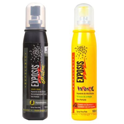 Repelente Exposis Extreme 100ml + Repelente Exposis Spray Infantil 100ml