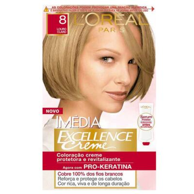 Imagem 1 do produto Tintura Imédia L'Oréal 8 Louro Claro