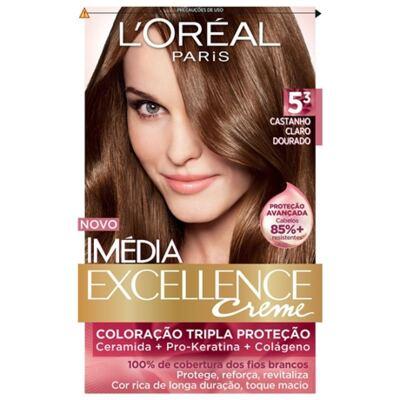 Tintura Imédia L'Oréal 5.3 Castanho Claro Dourado