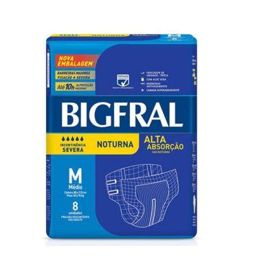 Imagem 1 do produto Fralda Geriátrica Bigfral Noturna Média 8 Unidades