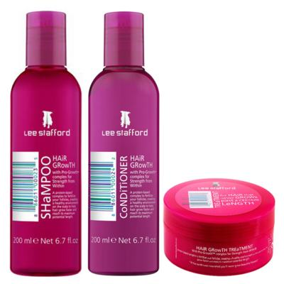 Kit Shampoo + Condicionador + Máscara Lee Stafford Hair Growth - Kit