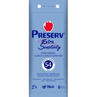 Imagem 1 do produto Preservativo Preserv Extra Sensitivity 6 Unidades