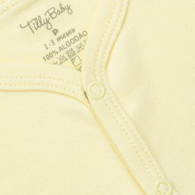 Imagem 2 do produto Casaco para bebe em suedine Amarelo - Tilly Baby - TB13115.07 CASACO SUEDINE AMARELO-P