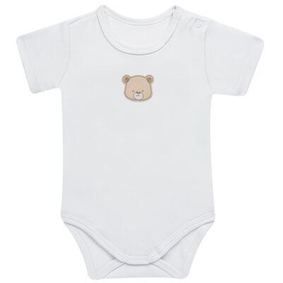 Imagem 2 do produto Pack: 02 Bodies curtos para bebe em algodão egípcio c/ jato de cerâmica Nature Little Friends - Mini & Classic - 1024650 PACK 2 BODIES MC SUEDINE NATURE -M
