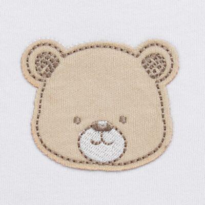 Imagem 3 do produto Pack: 02 Bodies curtos para bebe em algodão egípcio c/ jato de cerâmica Nature Little Friends - Mini & Classic - 1024650 PACK 2 BODIES MC SUEDINE NATURE -M