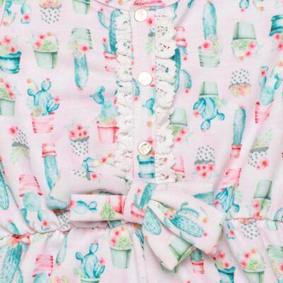 Imagem 2 do produto Macaquinho regata para bebe em viscomfort Cactus Flower - Petit - 30744300 MACAQUINHO REGATA VISCOM. LOVE CACTUS -2