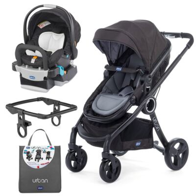 Urban Travel System: Carrinho Urban Plus + Color Pack Anthracite + Poltrona Keyfit Night - Chicco