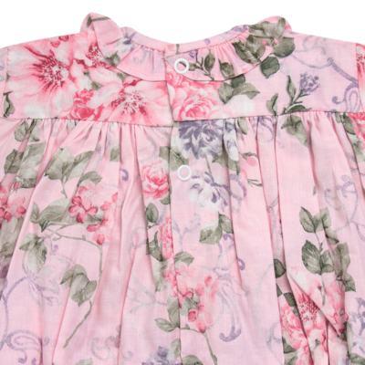 Imagem 3 do produto Macacão curto para bebe em tricoline Floral Deluxe - Roana - PIML0898046 PIMPAO LUXO ROSA -P