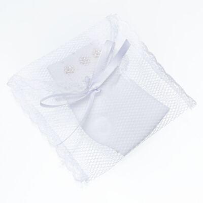 Imagem 3 do produto Meia para bebê Flor & Pérolas Branca - Roana