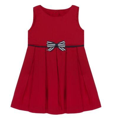 Imagem 2 do produto Vestido c/ Calcinha para bebe em fustão Scarlet - Mini Sailor - 14474263 VESTIDO C/ VIVO FUSTAO VERM ESC-6-9