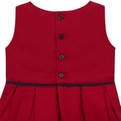 Imagem 3 do produto Vestido c/ Calcinha para bebe em fustão Scarlet - Mini Sailor - 14474263 VESTIDO C/ VIVO FUSTAO VERM ESC-6-9