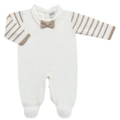 Imagem 4 do produto Macacão longo c/ Colete & Gravata para bebe em tricot Benjamim - Mini & Classic - 3069659 MACACAO FALSO COLETE TRICOT BRANCO-RN