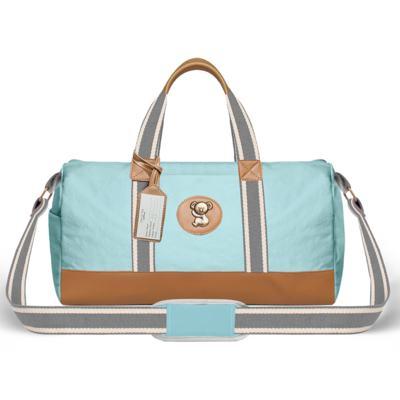 Imagem 2 do produto Bolsa Passeio para bebe + Bolsa Ibiza + Frasqueira Térmica Toulon + Trocador Portátil + Porta Mamadeira sarja Adventure Azul - Classic for Baby Bags