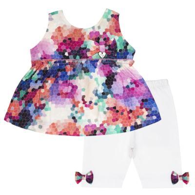 Bata c/ Legging para bebe em cotton Colorê - Tilly Baby - TB166200 CONJ FEM MOSAICO COLORIDO -3