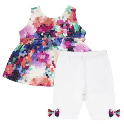 Imagem 2 do produto Bata c/ Legging para bebe em cotton Colorê - Tilly Baby - TB166200 CONJ FEM MOSAICO COLORIDO -3