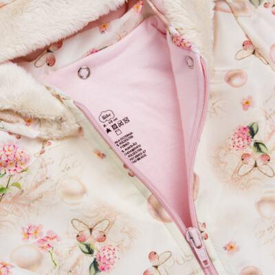 Imagem 3 do produto Casaco fofinho c/ Capuz removível e Calça para bebe Pearls - Bibe - 38F50-G41 Cj. Casaco com Calça Feminino-GG
