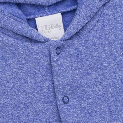 Imagem 3 do produto Casaco c/ capuz e Calça para bebe em soft Azul - Tilly Baby - TB0172020.09 CONJ. CASACO COM CALÇA SOFT AZUL-M
