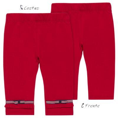 Imagem 1 do produto Legging para bebe em viscomfort Laço Vermelha - Baby Classic - 20511628 LEGGING C/ LAÇO VISCOMFORT BUTTERFLY-2