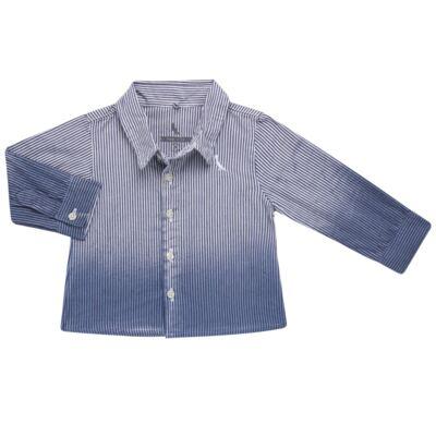 Camisa para bebe em tricoline Degradê Marinho - Reserva Mini - RM23166 CAMISA BB DF DEGRADE-M