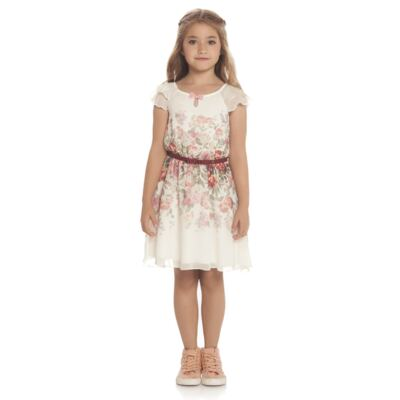Imagem 2 do produto Vestido em chifon Camelli - Charpey - CY14746.138 VESTIDO OFF WHITE-3