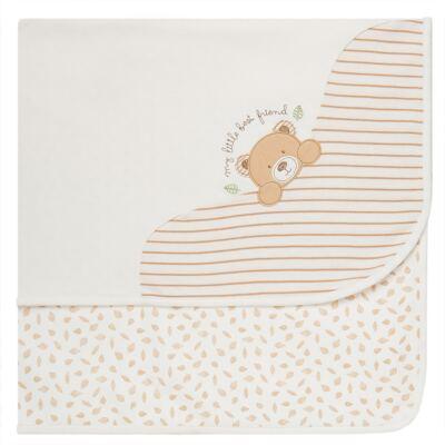 Imagem 1 do produto Manta em algodão egípcio c/ jato de cerâmica e filtro solar fps 50 Nature Little Friend Bear - Mini & Kids - MTRC0001.18 MANTA C/RECORTE AVULSA - SUEDINE
