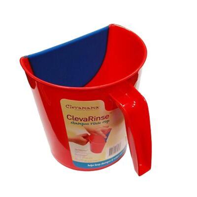 Imagem 3 do produto Enxaguante de shampoo ClevaRinse Vermelho e Tapete antiderrapante para banho e suporte para joelhos ClevaBath - Clevamama