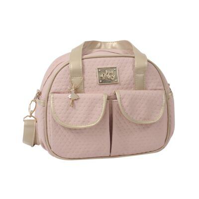 Imagem 3 do produto Bolsa maternidade para bebe + Frasqueira Térmica Nice Rosê - Just Baby