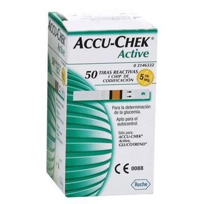 Imagem 1 do produto TIRA PARA TESTE DE GLICOSE ACTIVE ACCU-CHECK - Caixa com 25