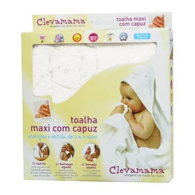 Toalha Max Splash & Wrap Branca - Clevamama - 2929 TOALHA C/CAPUZ ATÉ 4ANOS BRANCO