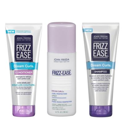 Imagem 1 do produto Kit Condicionador + Ativador de Cachos + Shampoo John Frieda Frizz-Ease Dream Curls - KIt