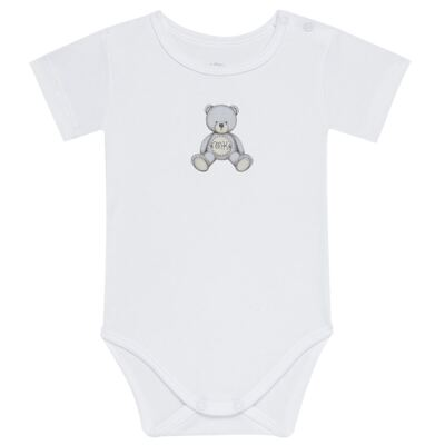 Imagem 1 do produto Body curto para bebe em Pima Cotton Supreme Prime Bear Branco - Mini & Kids - BDMC0001.64 BODY MANGA CURTA - SUEDINE-RN