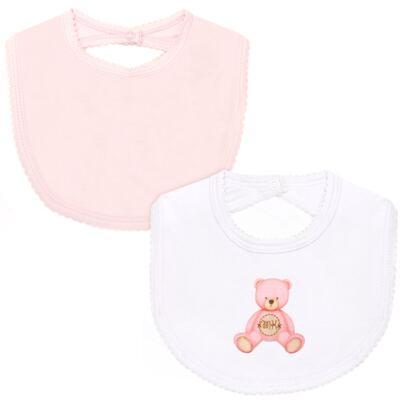 Imagem 1 do produto Pack: 2 babadores em Pima Cotton Supreme Prime Bear Rosa - Mini & Kids