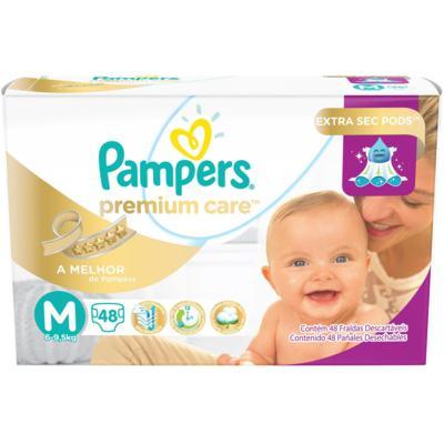 Imagem 1 do produto Fralda Descartável Pampers Premium Care M 48 Unidades