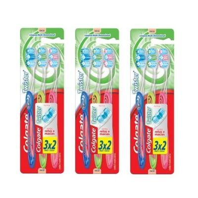 Imagem 1 do produto Escova Dental Colgate Twister Macia Leve 9 Pague 6