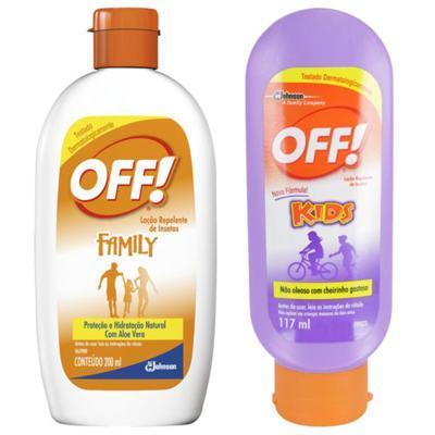 Imagem 1 do produto Repelente Off Kids 117ml + Repelente Off Hidratante Loção 200ml