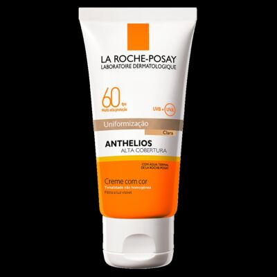 Imagem 1 do produto Protetor Solar Cor Clara La Roche-Posay Anthelios Alta Cobertura FPS 60 50ml