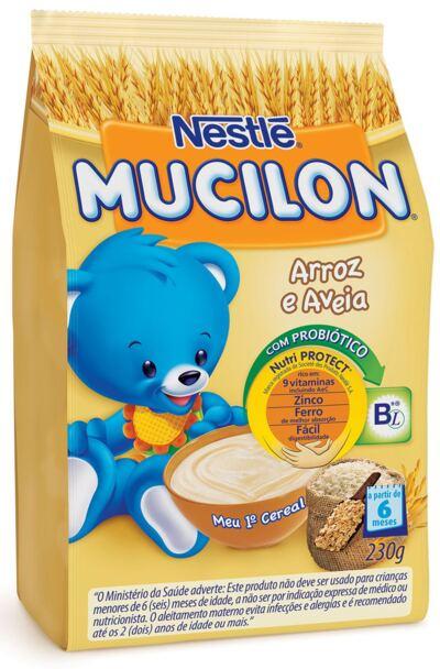 Cereal Infantil Nestlé Mucilon Arroz e Aveia 230g