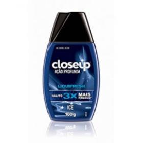 Creme Dental Closeup - Ação Profunda Liquifresh Red Ice   100g