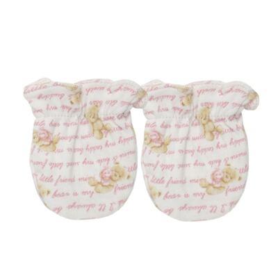 Imagem 3 do produto Kit c/ Touca, Luva e Sapatinho em algodão egípcio c/ jato de cerâmica e filtro solar fps 50 Maternity Pink Bear - Mini & Kids