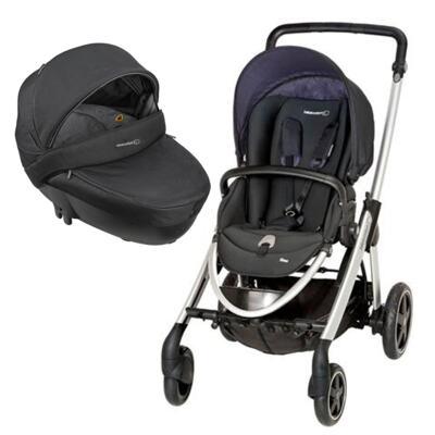 Imagem 1 do produto Travel System: Carrinho de bebê Elea Total Black + Moisés Windoo Plus Black Raven (0m+) - Bébé Confort