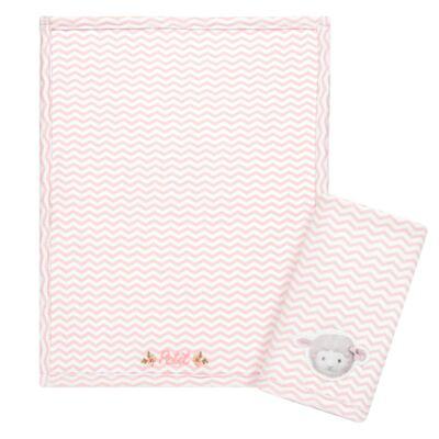 Imagem 1 do produto Kit com 2 fraldinhas de boca atoalhadas Ovelhinha Rosa - Petit