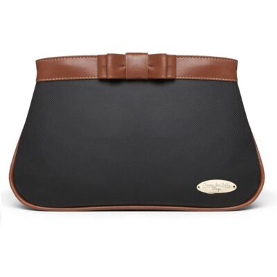 Imagem 1 do produto Mini Bolsa para bebe Laço Caramel Preta - Classic for Baby Bags
