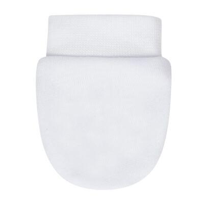Imagem 2 do produto Kit 2 Pares de luvas em algodão egípcio Branca/Vermelha - Bibe