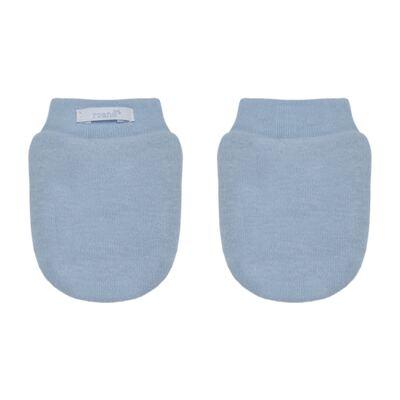 Imagem 3 do produto Kit Bichinho: Touca + Par de Luvas para bebê em suedine Azul - Roana