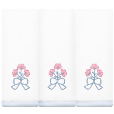 Kit com 3 fraldinhas de boca em malha Mini Bouquet - Classic for Baby