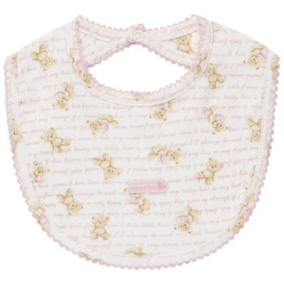 Imagem 1 do produto Babador em algodão egípcio Maternity Pink Bear - Classic for Baby