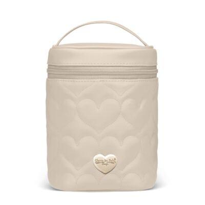 Bolsa Térmica para bebe Firenze Corações Matelassê Caqui - Classic for Baby Bags