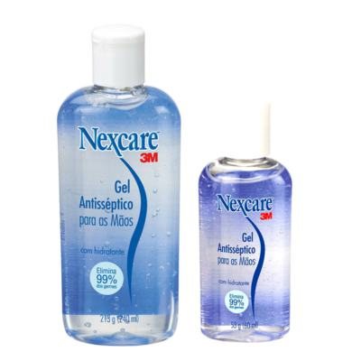 Kit Nexcare 3M Gel Antisséptico 240ml + Gel Antisséptico 60ml